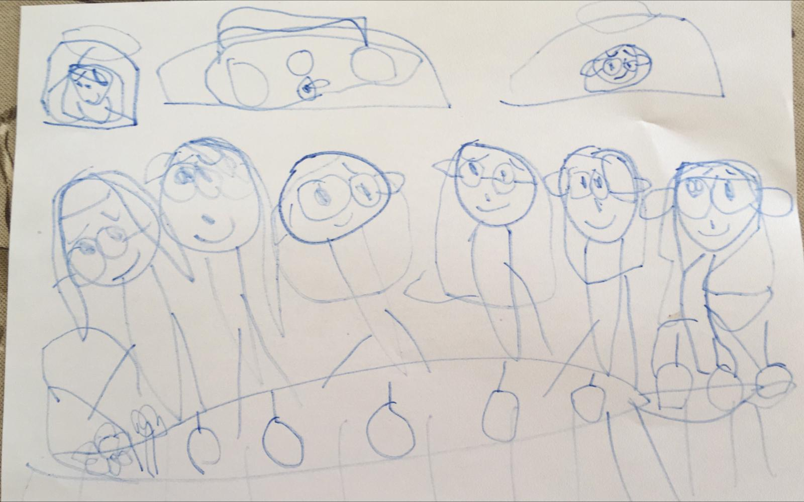 Science Girls, by Alexandra Blair (aged 5)