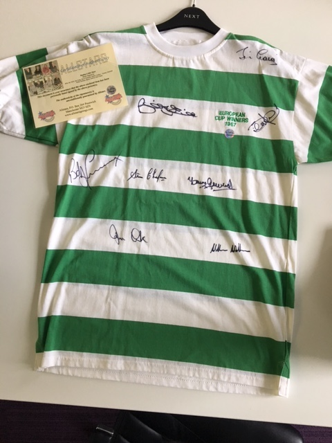 Celtic shirt, signed by the Lisbon Lions