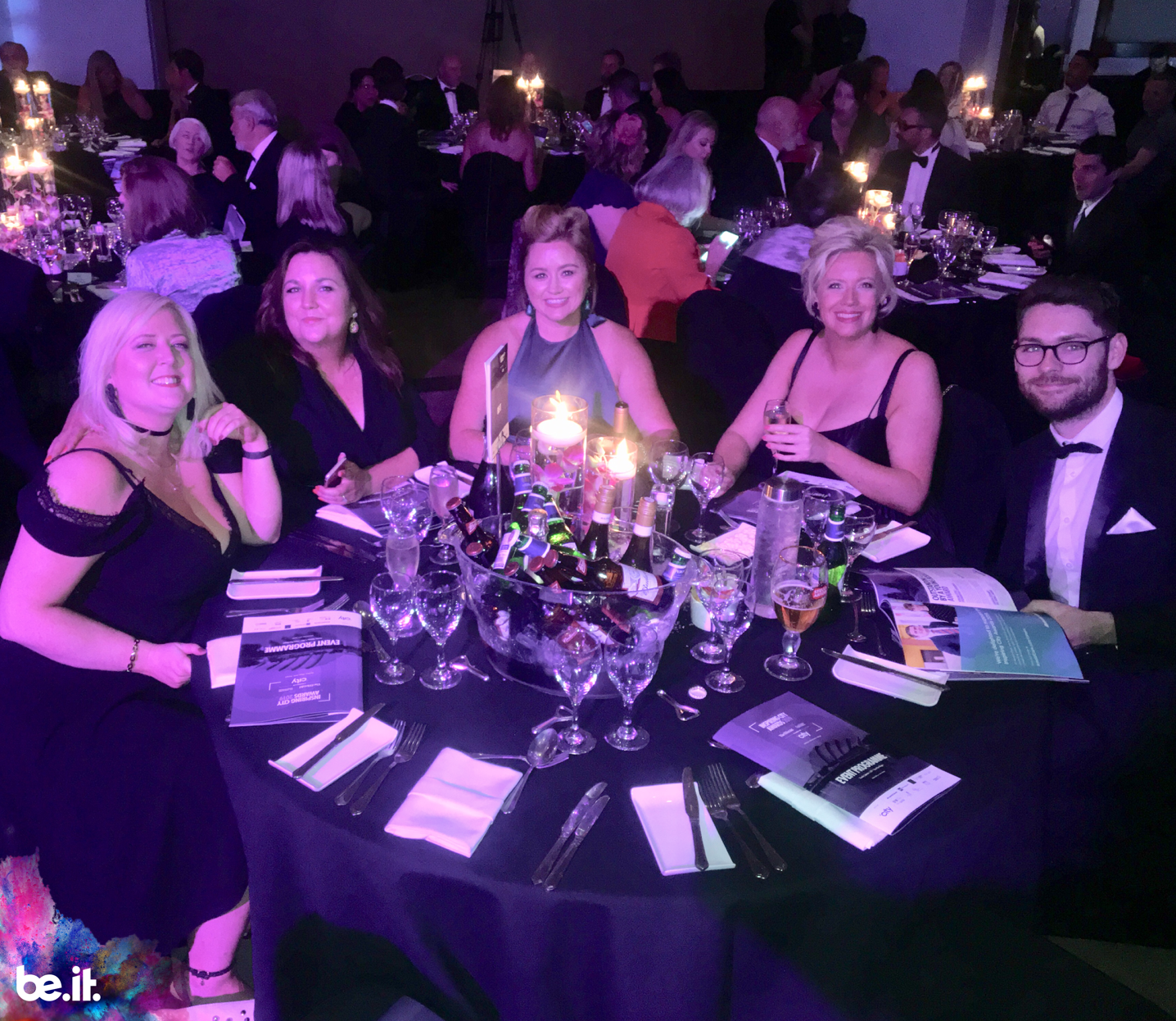 Be-IT table at Inspiring City awards