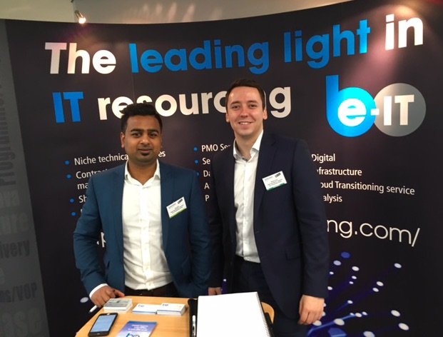 Ami and Michael at Government ICT in London