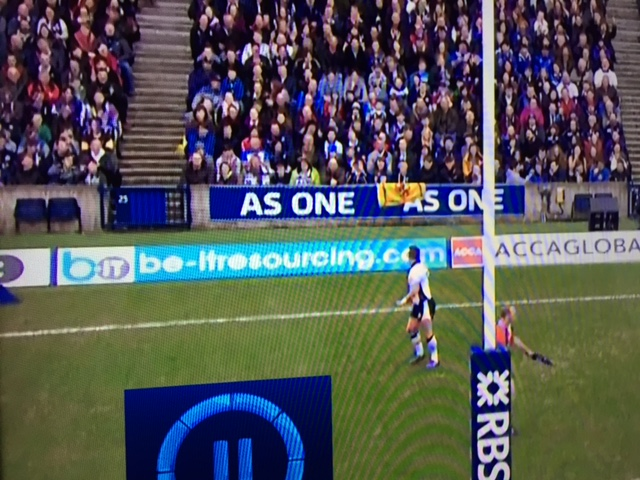 Be-IT advertisement at Murrayfield