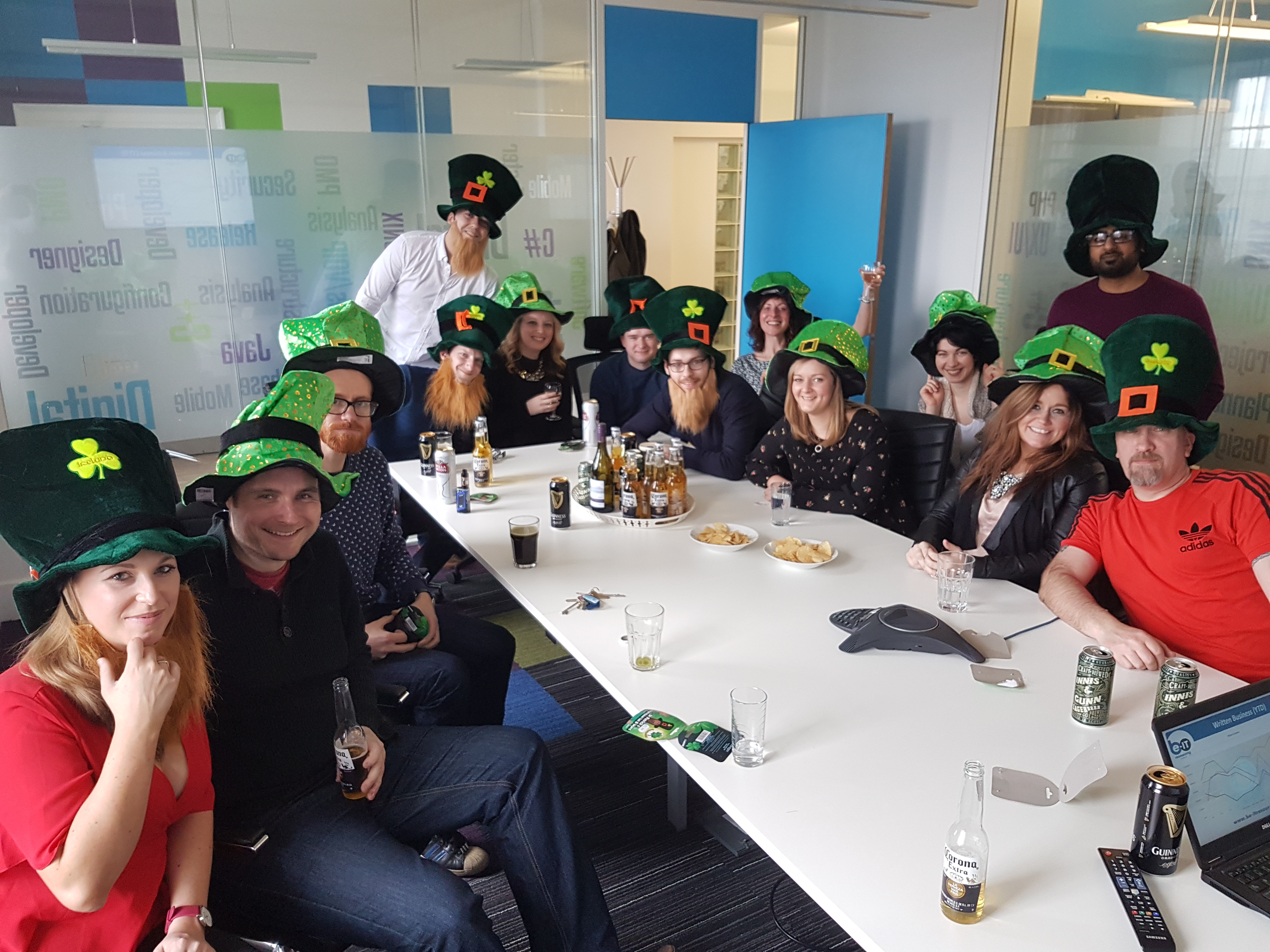 Be-IT team on Paddy's Day.
