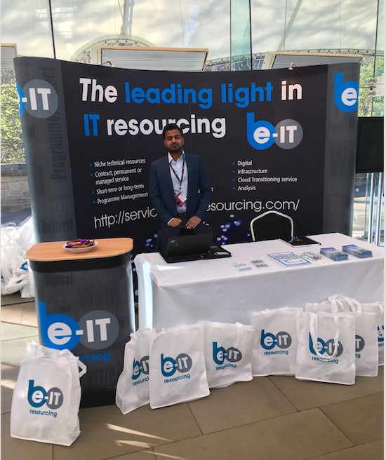 Picture of Ami Islam and the Be-IT exhibition stand