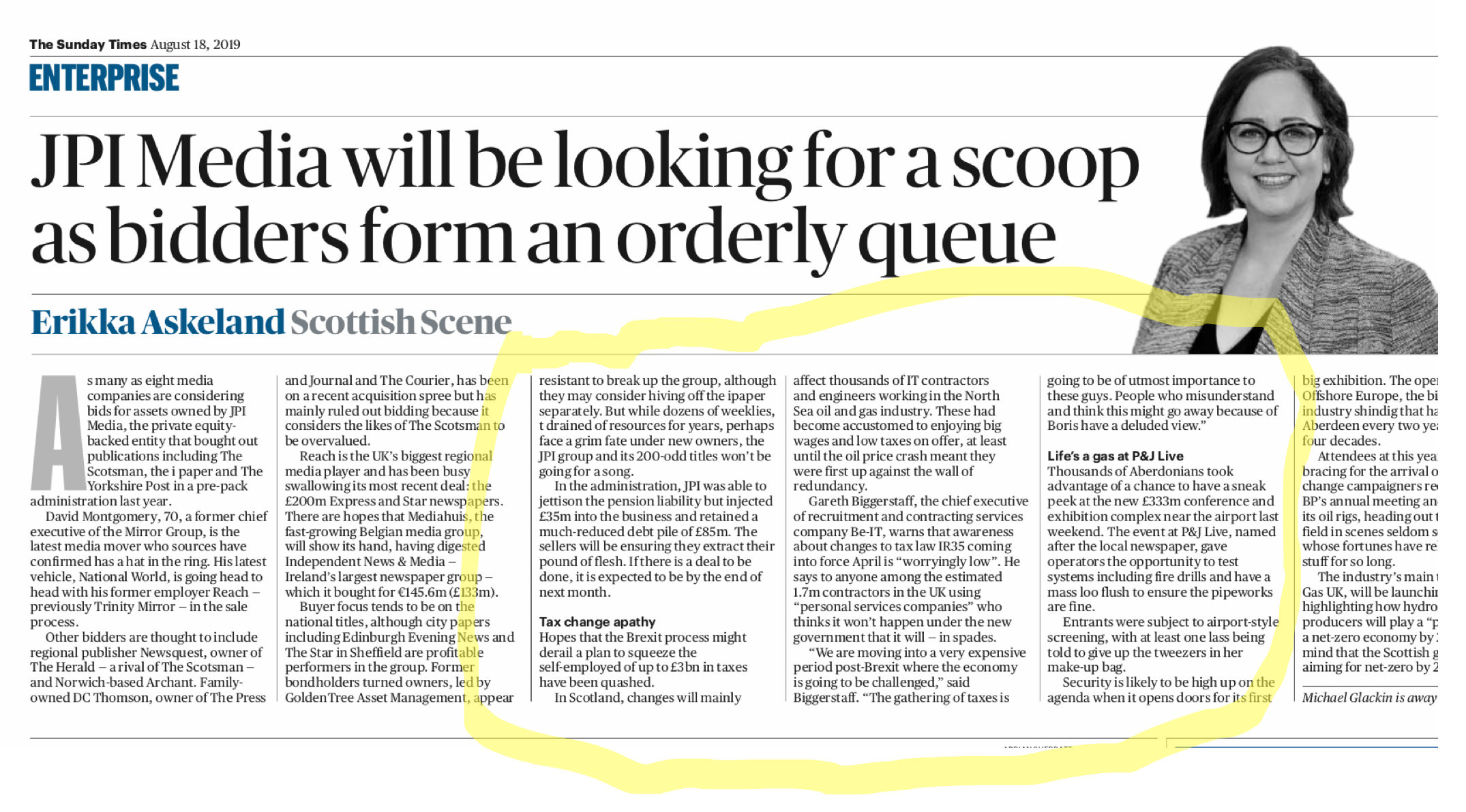 Sunday Times article IR35 18 Aug 2019