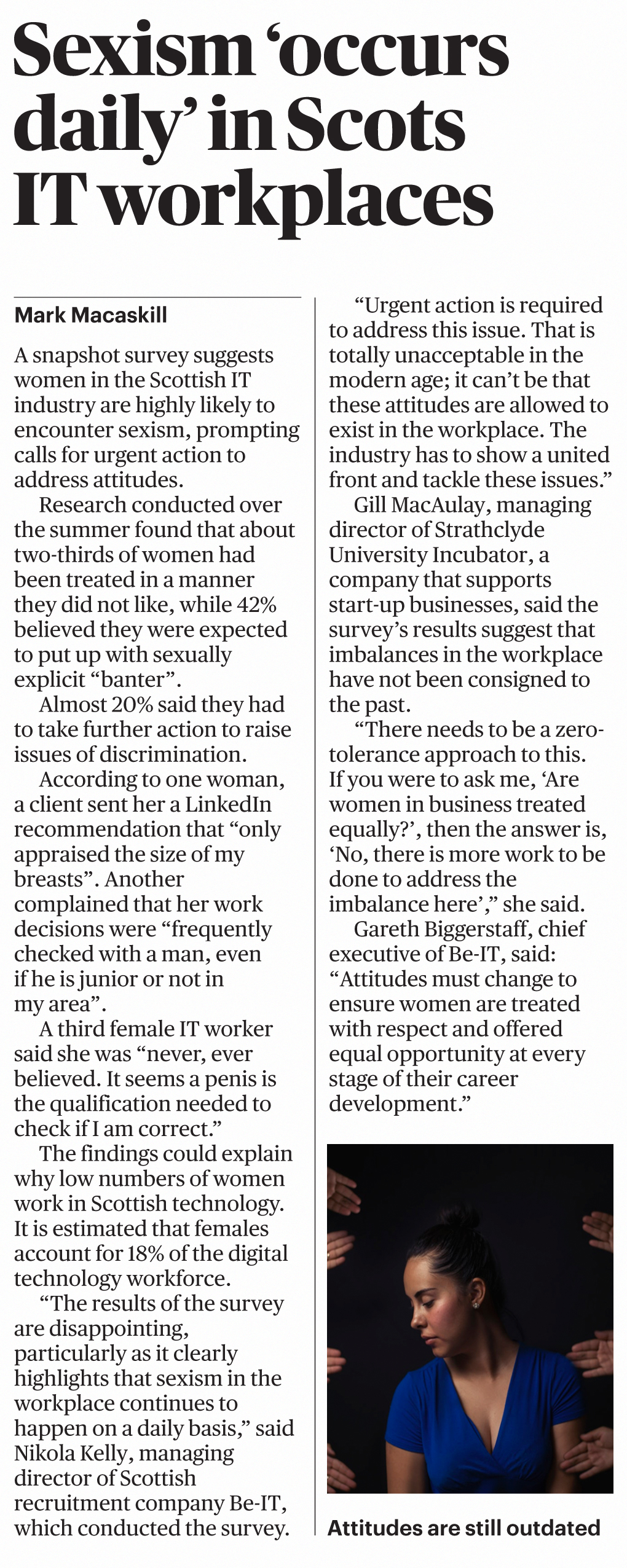 Be-IT sexism survey report in Sunday Times
