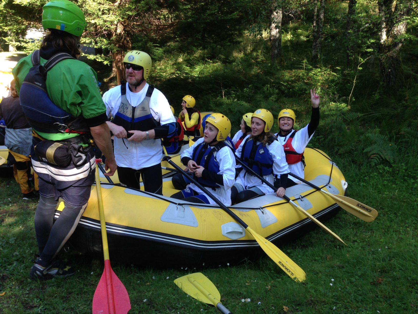 Be-IT goes white water rafting, with charitable intent...